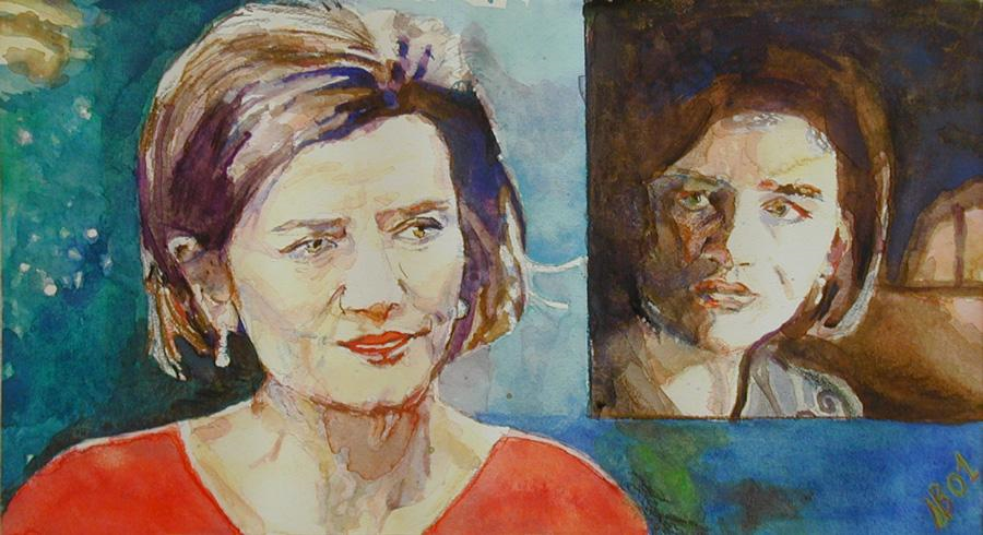 2001 Margrethe Vestager Watercolour on paper 42 x 30cm