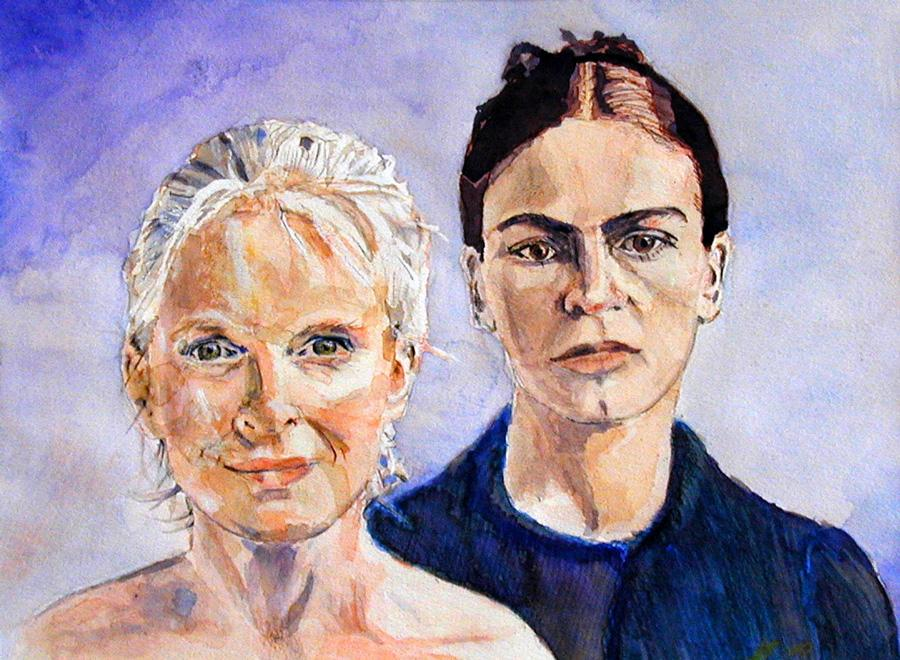 2001 Two Women Water colour on paper 42 x 30cm