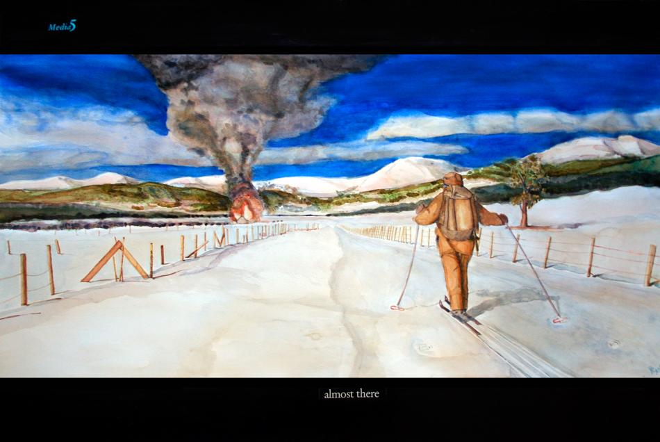 2005 Almost There Water colour on paper 100 x 60cm