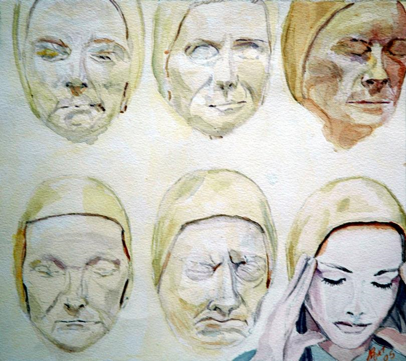 2005 Generations Water colour on paper