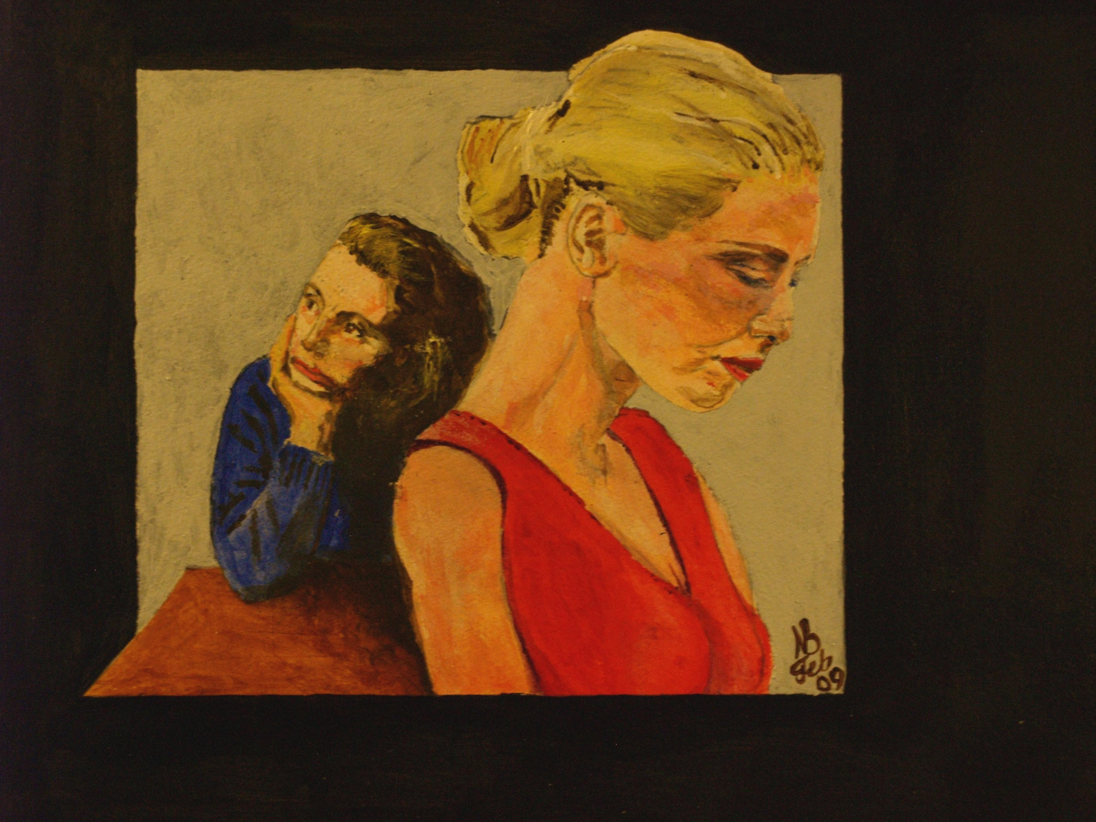 2009 Claudia & Yvonne Water colour on paper 42 x 21cm